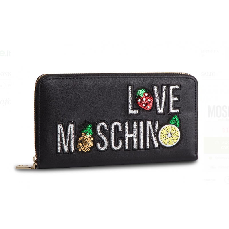 nuovo concetto 41e28 b12cc Portafoglio Love Moschino