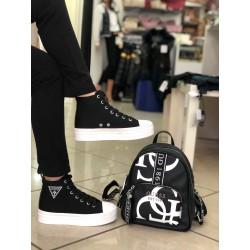Sneakers Guess tela NERO