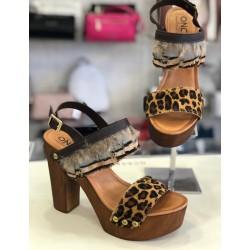 Sandalo Oro Once Legno LEOPARD