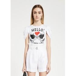 T-shirt con maniche...