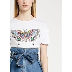 T-shirt con maniche a...