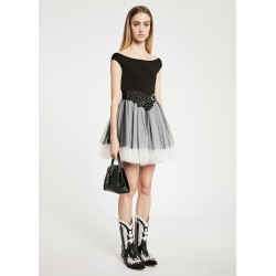 Abito con gonna in tulle