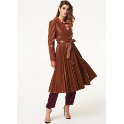 Trench in simil pelle