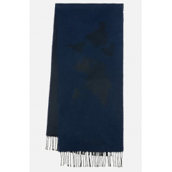 Sciarpa Geo Pieno 38X180 Blu