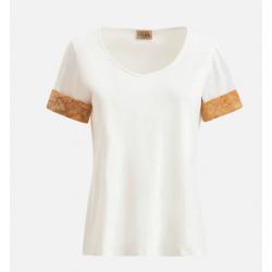 T-shirt con risvolti Geo...