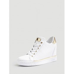 White GUESS Sneakers FLOWURS STIVALETTO